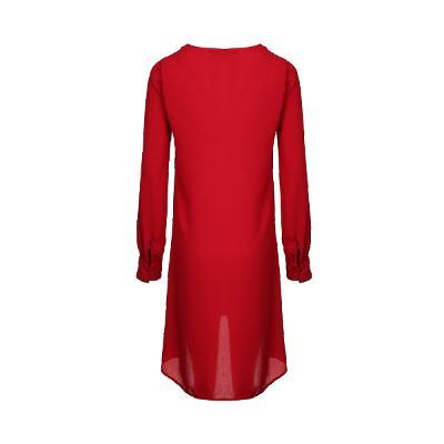 pocket point dress red